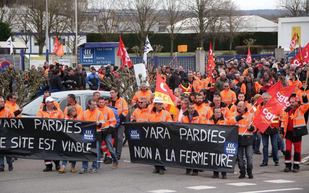 les-salaries-de-yara-entendent-protester-contre-la-fermeture-de-leur-outil-de-travail